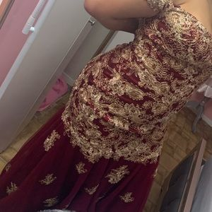 Burgundy Mermaid Dress